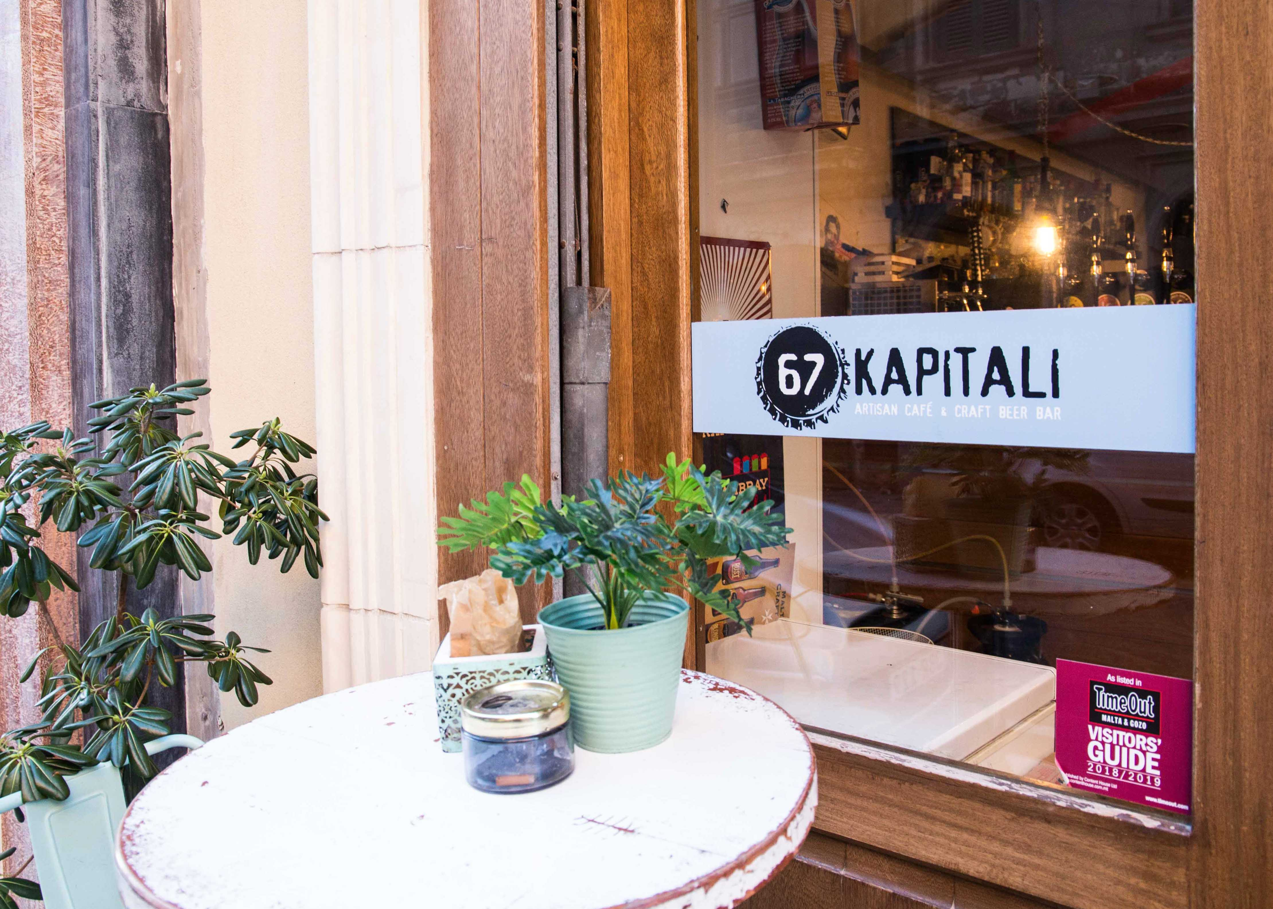 Best bar in Valletta with craft beer, open till late night, 67 Kapitali