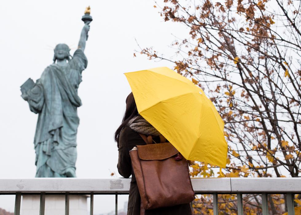 折叠伞  黄色