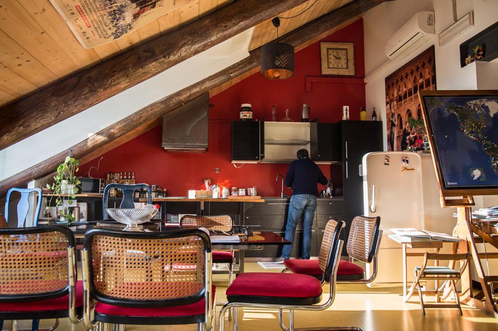 Italy Torino Turin Attic Hostel