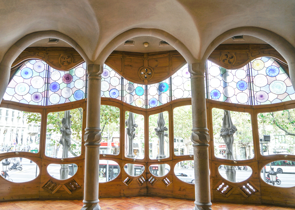 Barcelona Gaudi Casa Batllo windows