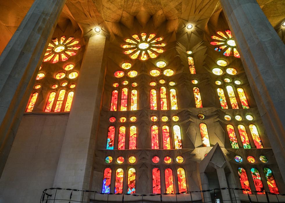 Gaudi Sagrada Familia stained glasses