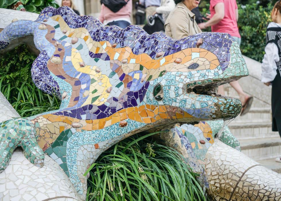 Gaudi Guell Park lizard