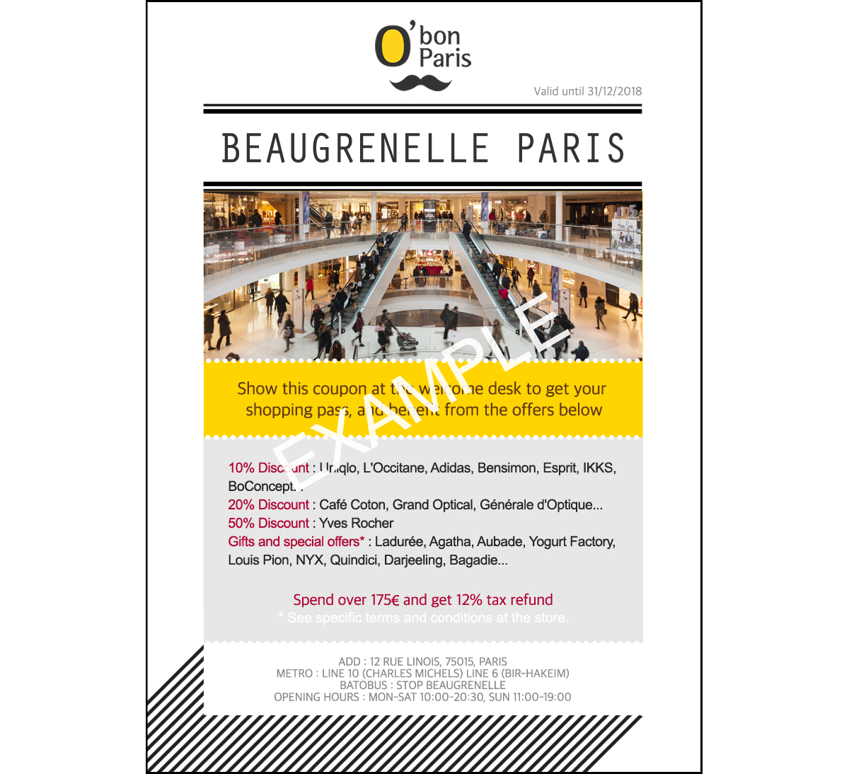 Discount coupons paris