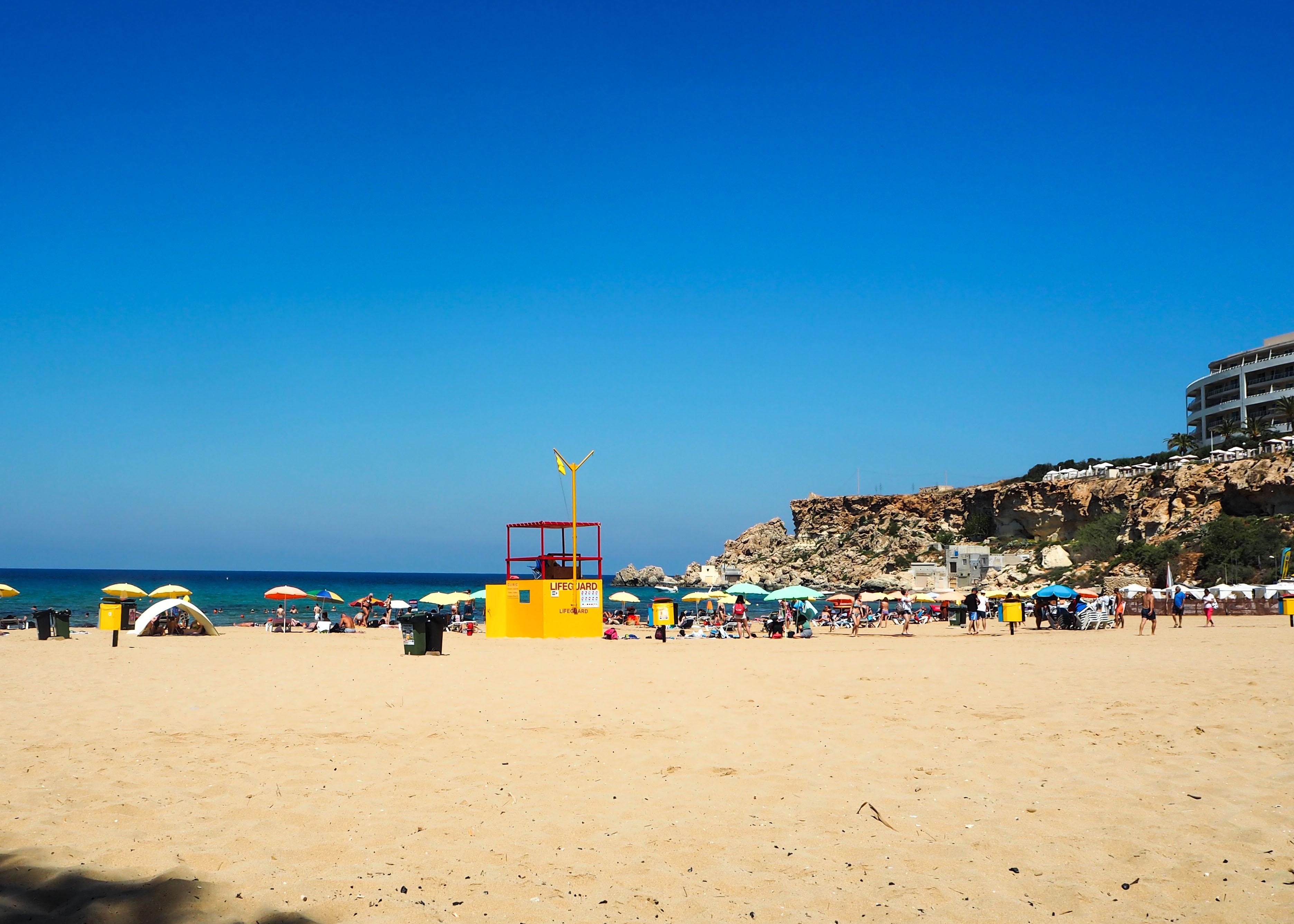 Best beach in Malta: Golden Bay