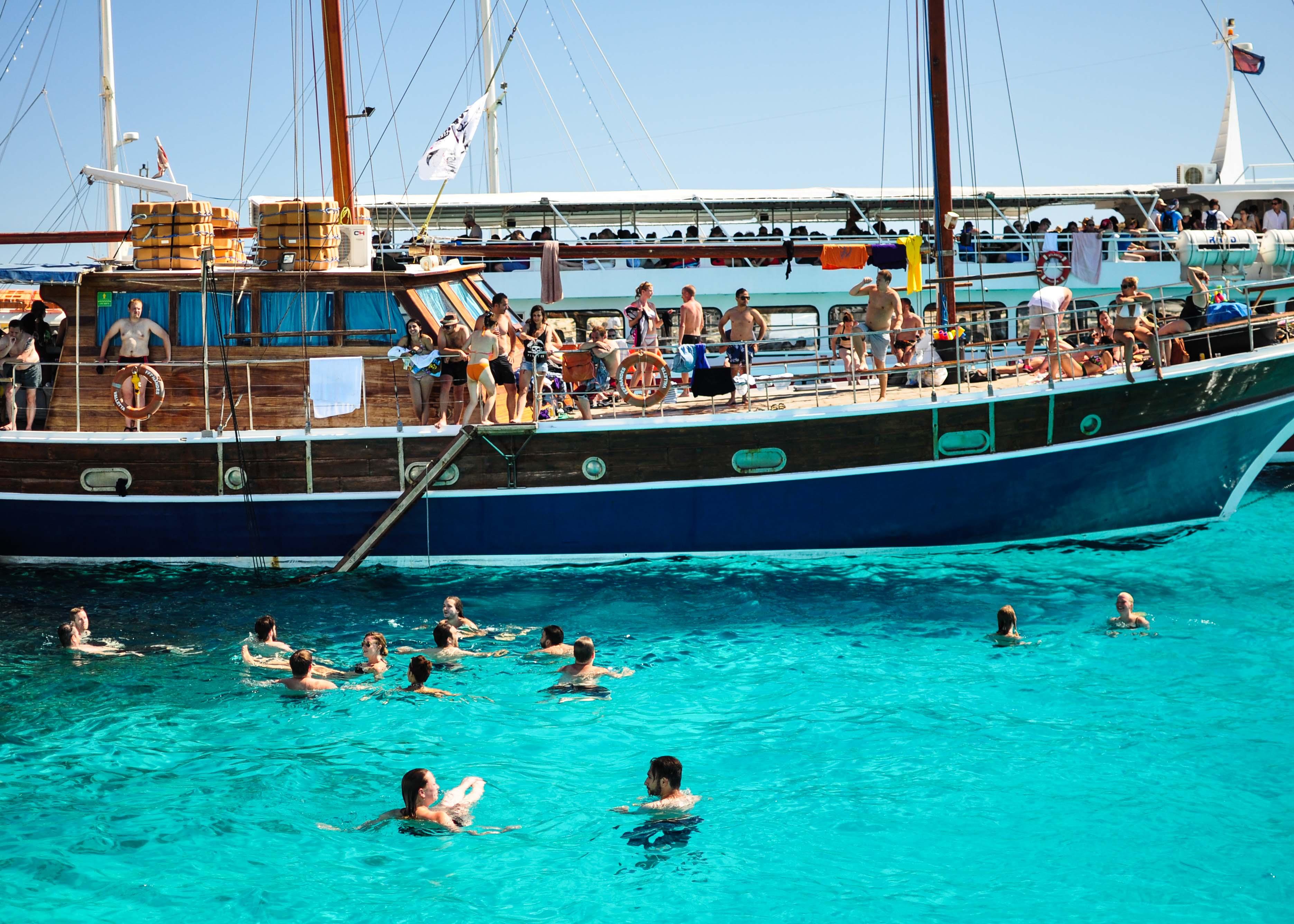 藍色瀉湖Blue Lagoon 遊船 馬爾他 科米諾島