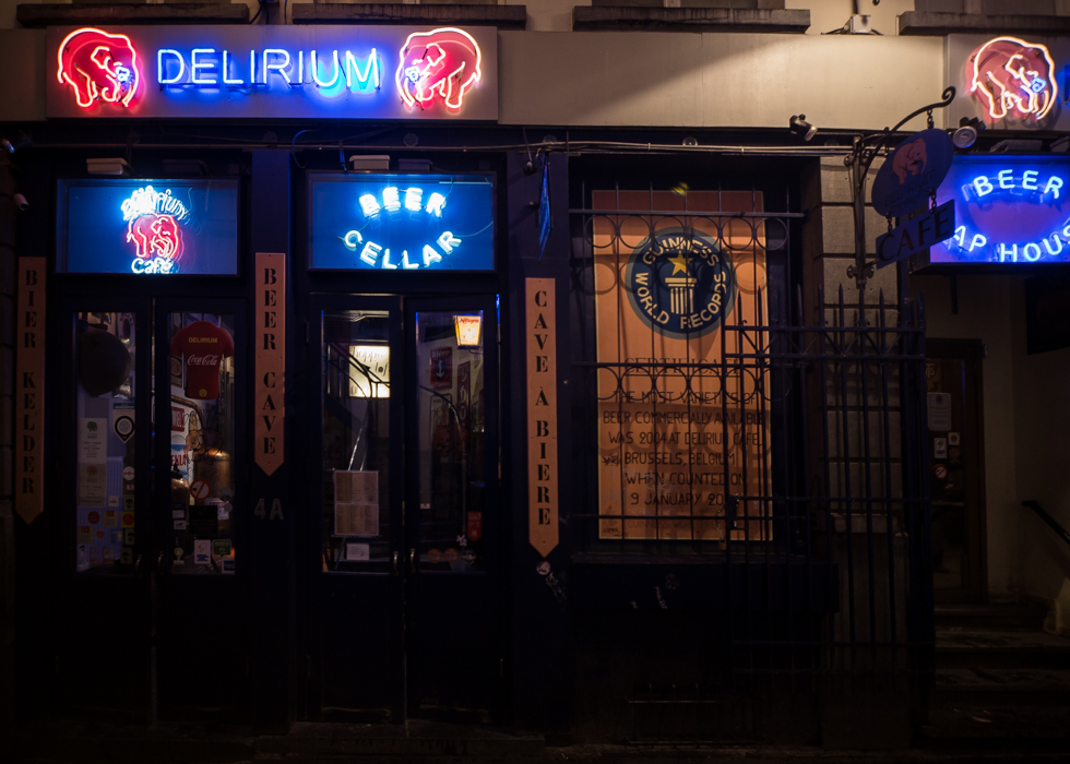 Delirium Brussels beer cafe interior