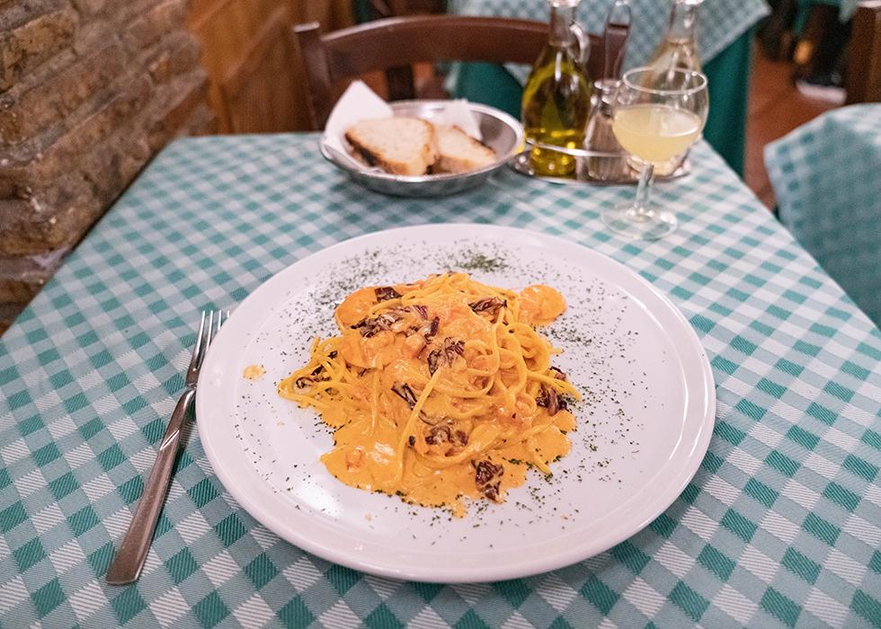 ローマ パスタレストラン カルロメンタItaly Rome Spaghetti restaurant : CARLO MENTA