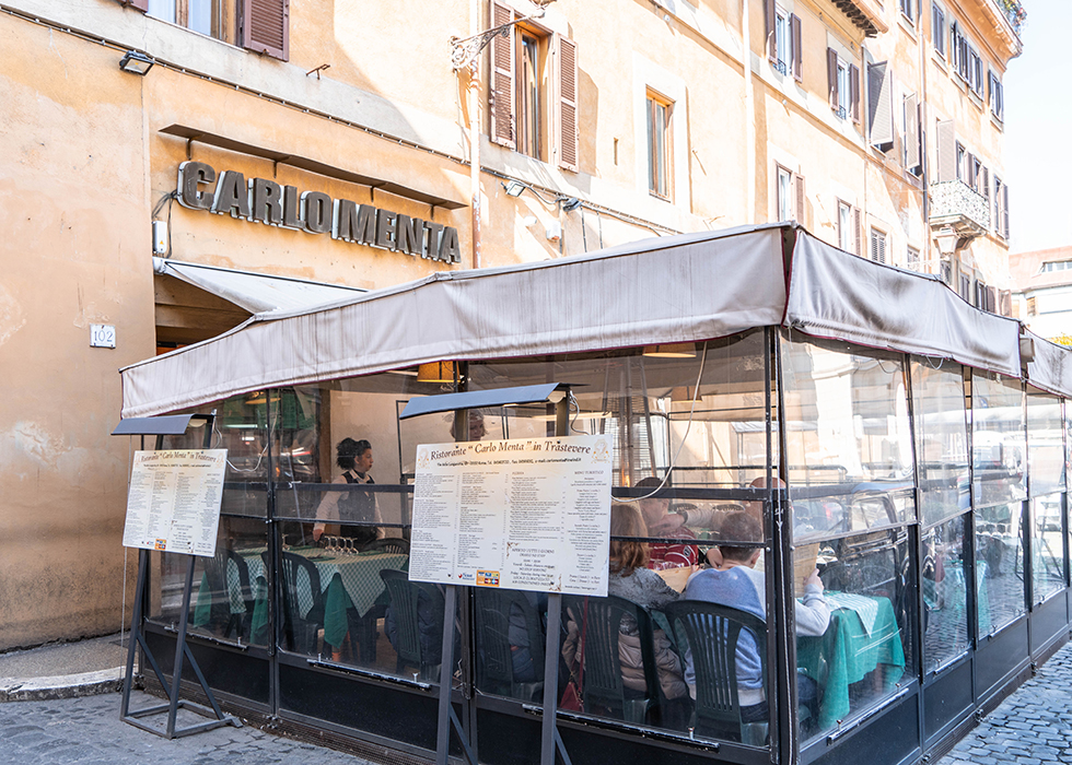Rome local restaurant CARLO MENTA