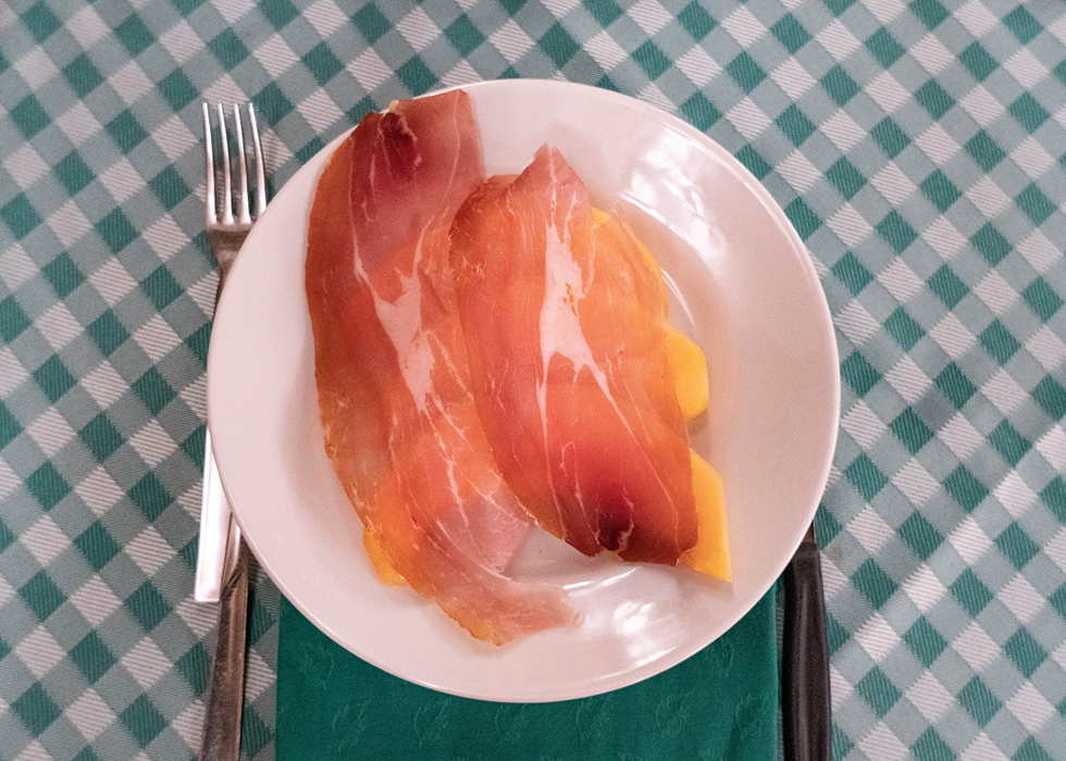 Rome food PROSCIUTTO AND MELON