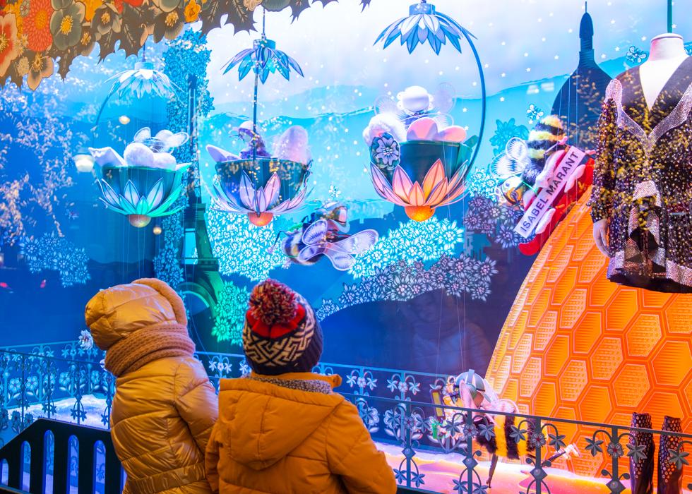 Рождественские витрины Галереи Лафайет