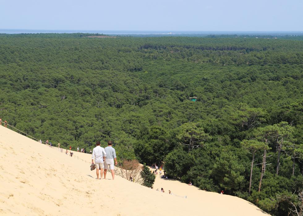 làm thế nào để leo cồn cát dune du pilat