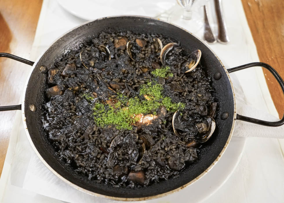 Spain Barcelona Black Paella