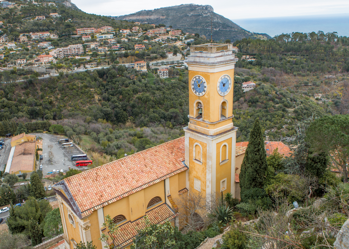 โบสถ์ NOTRE-DAME ของหมู่บ้าน EZE