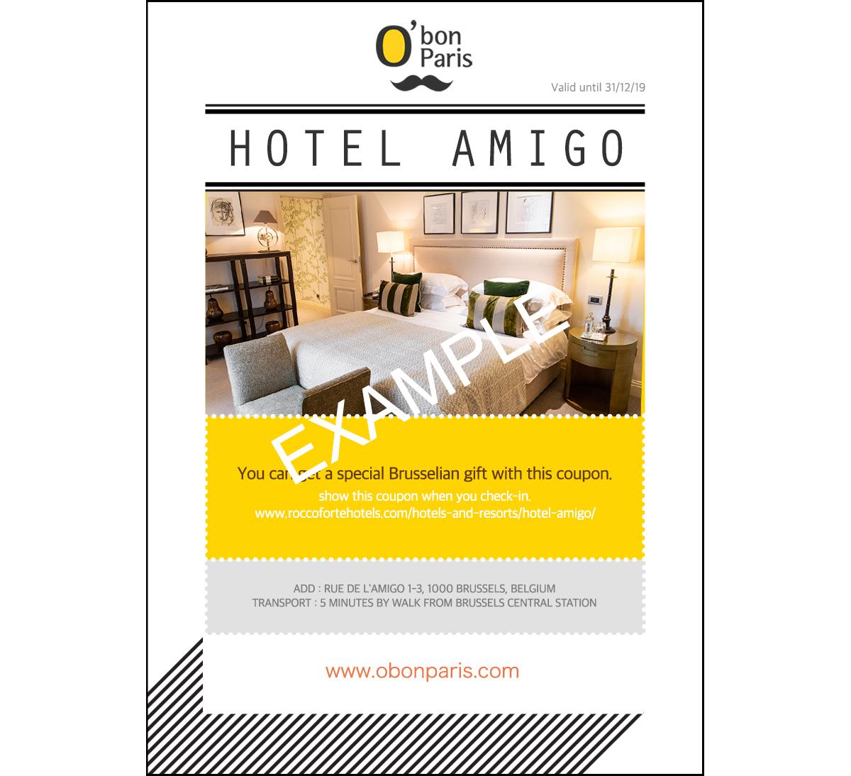 Hotel Amigo coupon