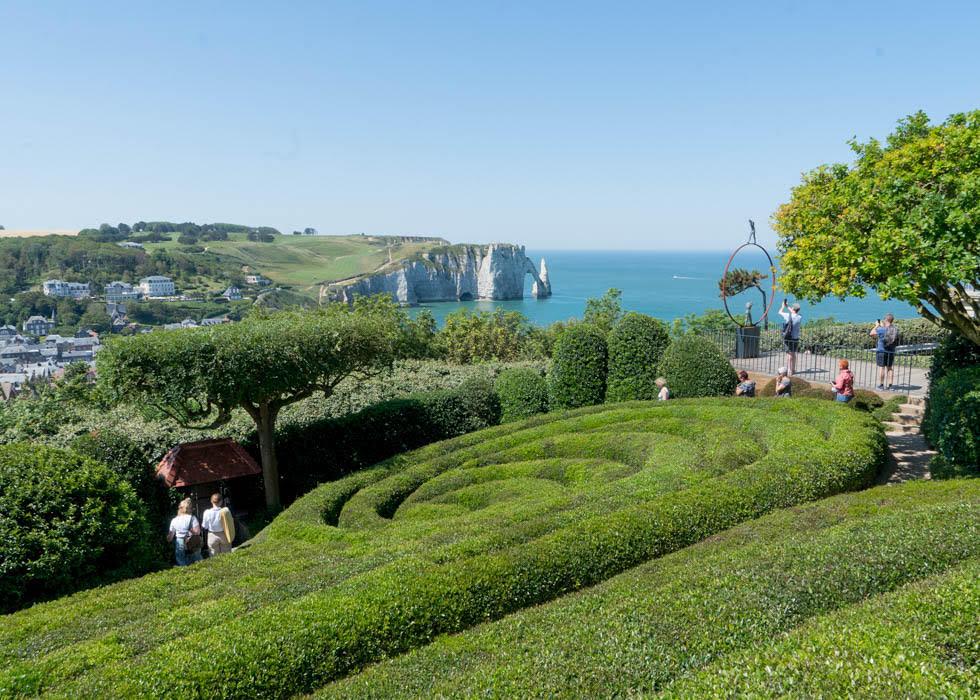 法國北部旅遊景點推薦 諾曼第象鼻海岸 埃特雷塔花園JARDINS D'ETRETAT