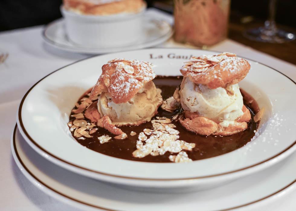la gauloise dessert menu : a french restaurant near eiffel tower