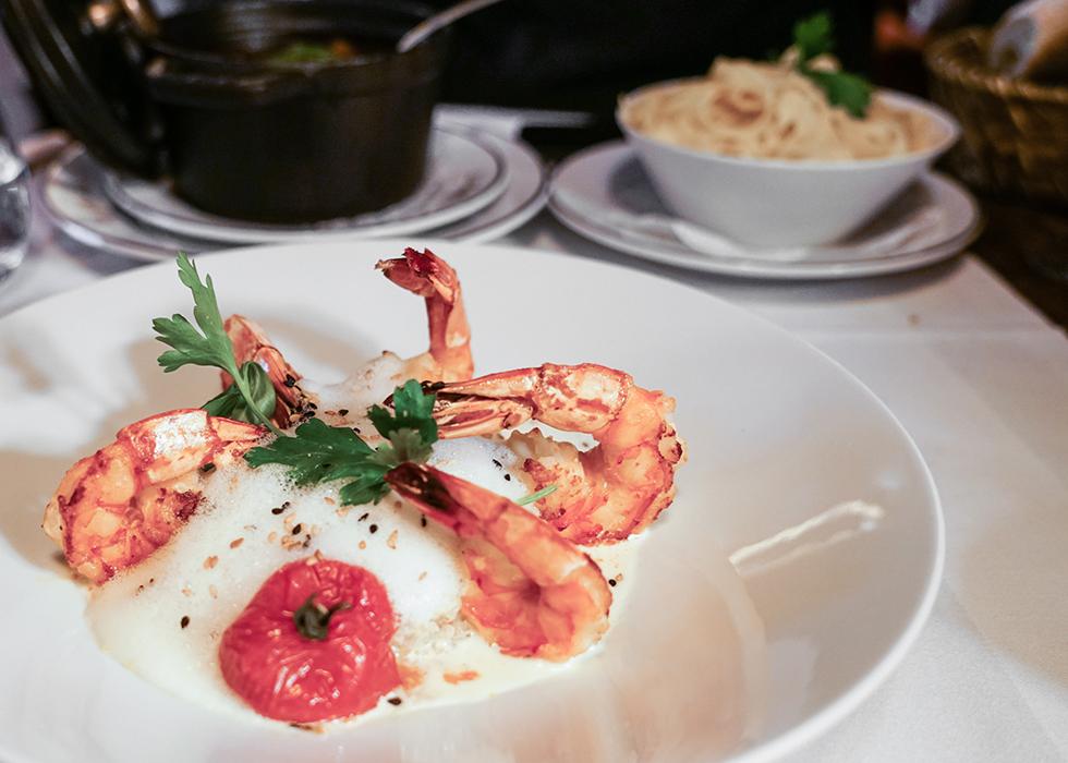 gambas / shrimp french cuisine : la gauloise