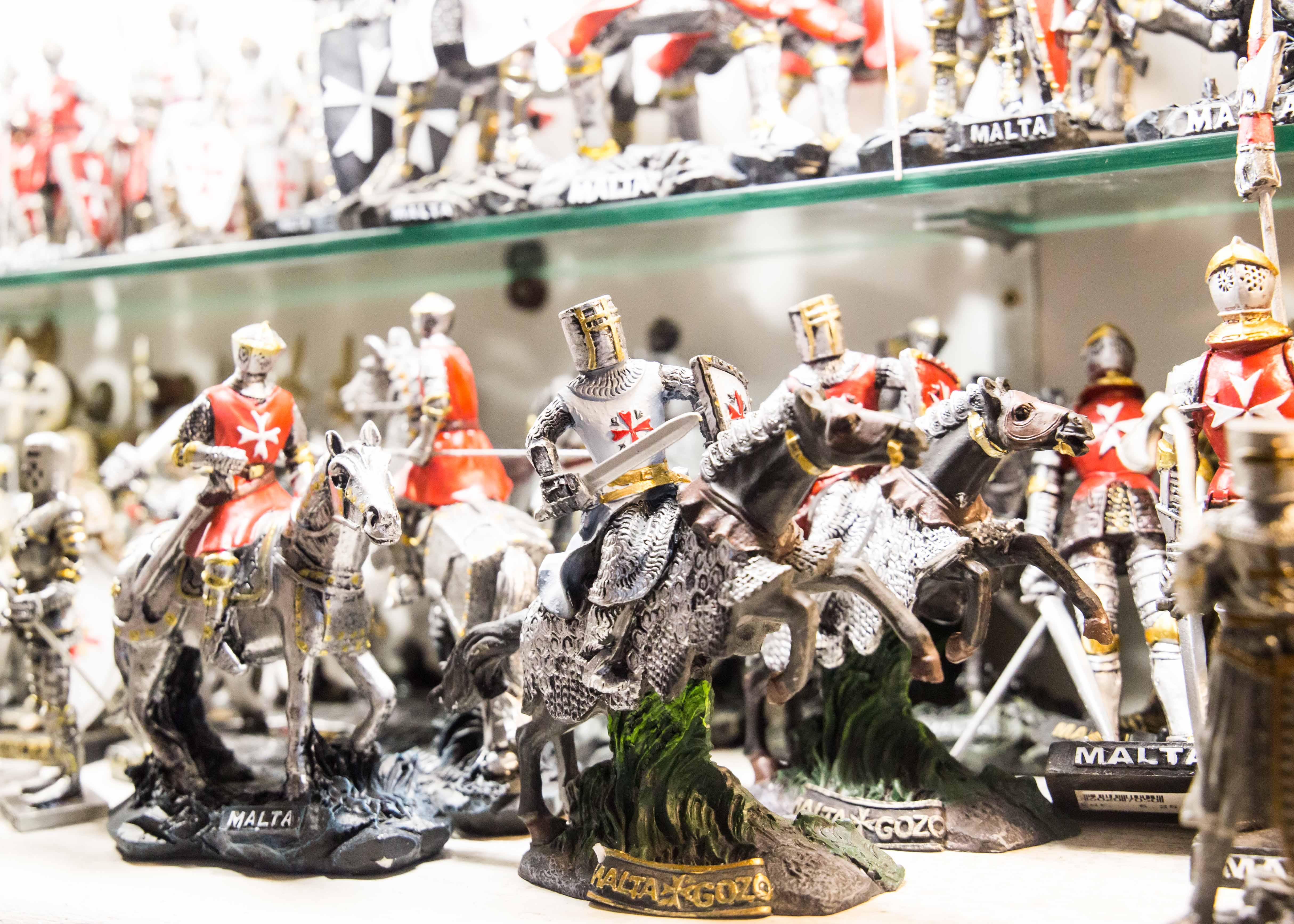 Malta souvenirs: Knight of Malta figurine