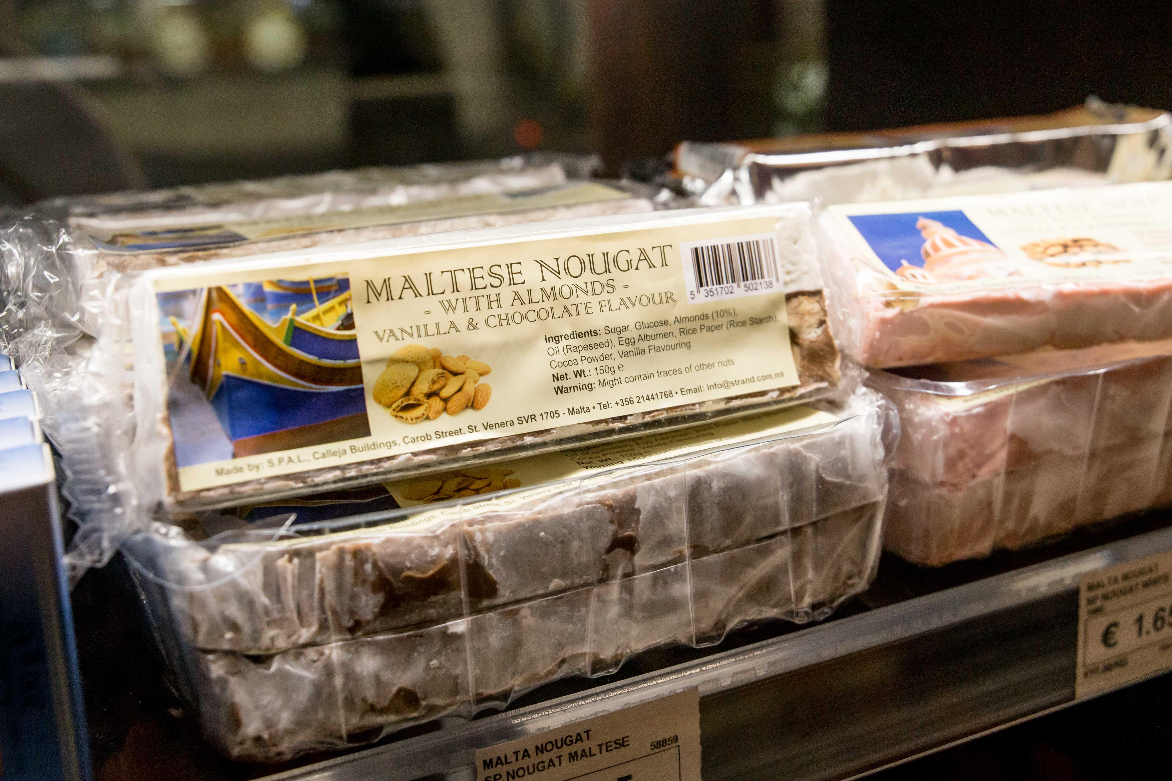 Malta souvenirs: Nougat