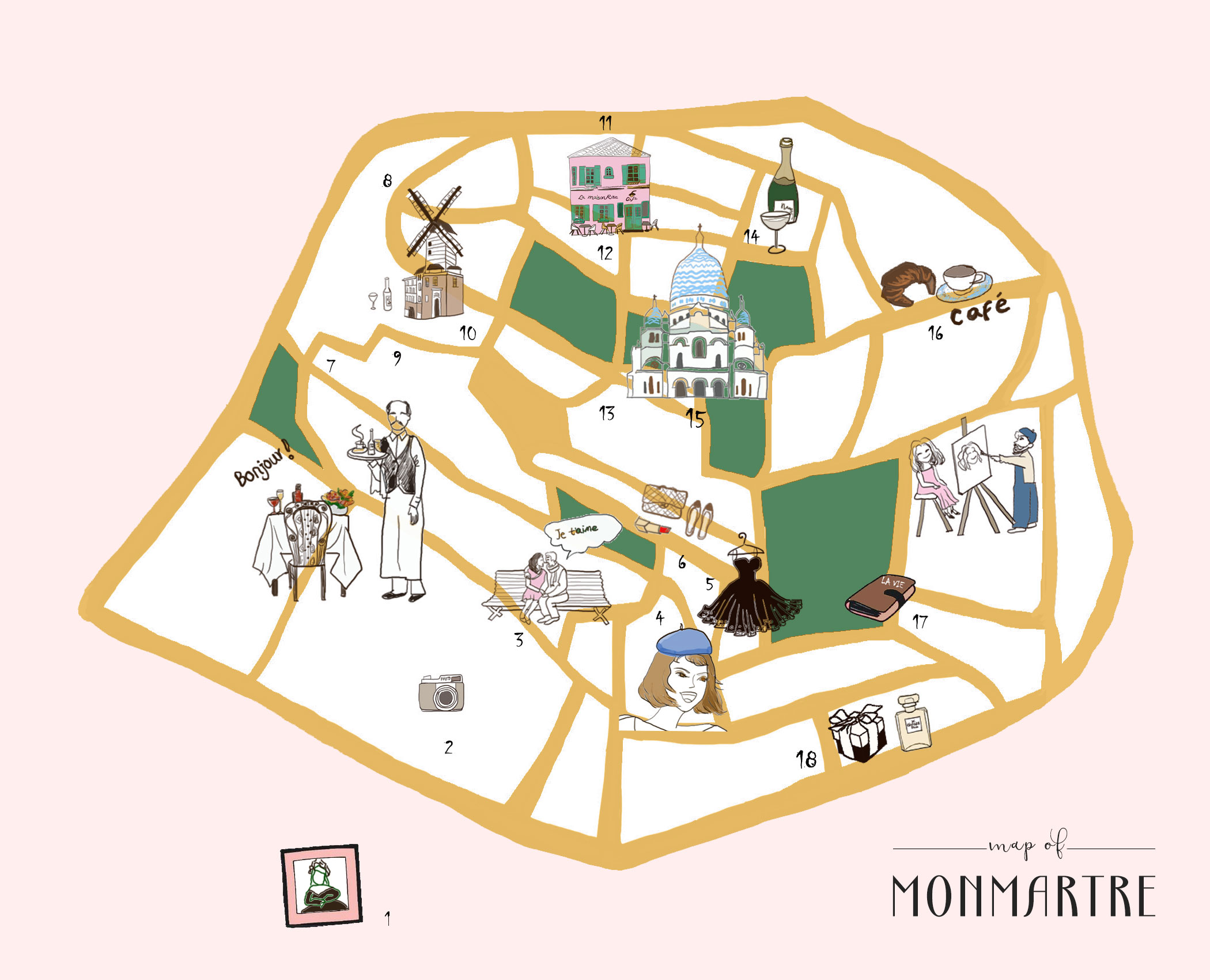 MONTMARTRE ITINERARY