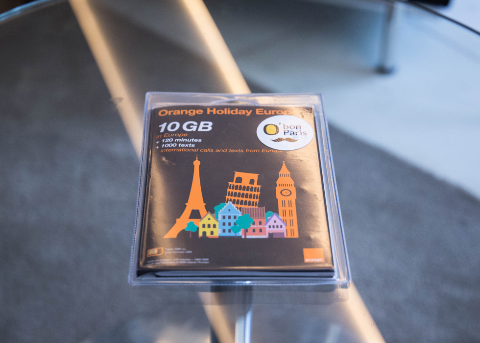 4g 10gb easy to be parisian for Paris orange card