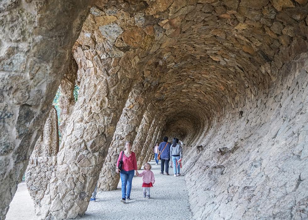 구엘공원 포토존 : 파도동굴