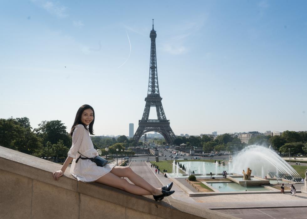 艾菲爾鐵塔 取景拍照  Trocadero 花園廣場