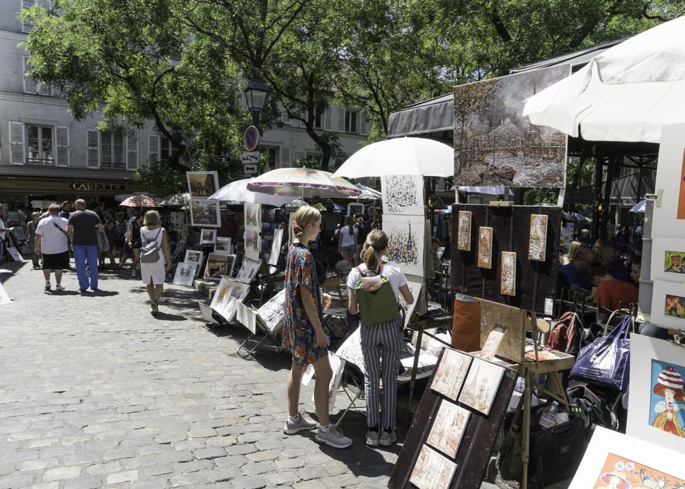 蒙馬特 藝術家廣場 Montmartre artists' plaza