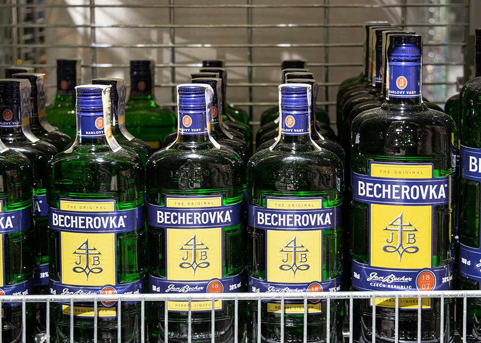 PRAGUE SUPERMARKET SHOPPING - TRADITIONAL ALCOHOL OF CZECH REPUBLIC, BECHEROVKA