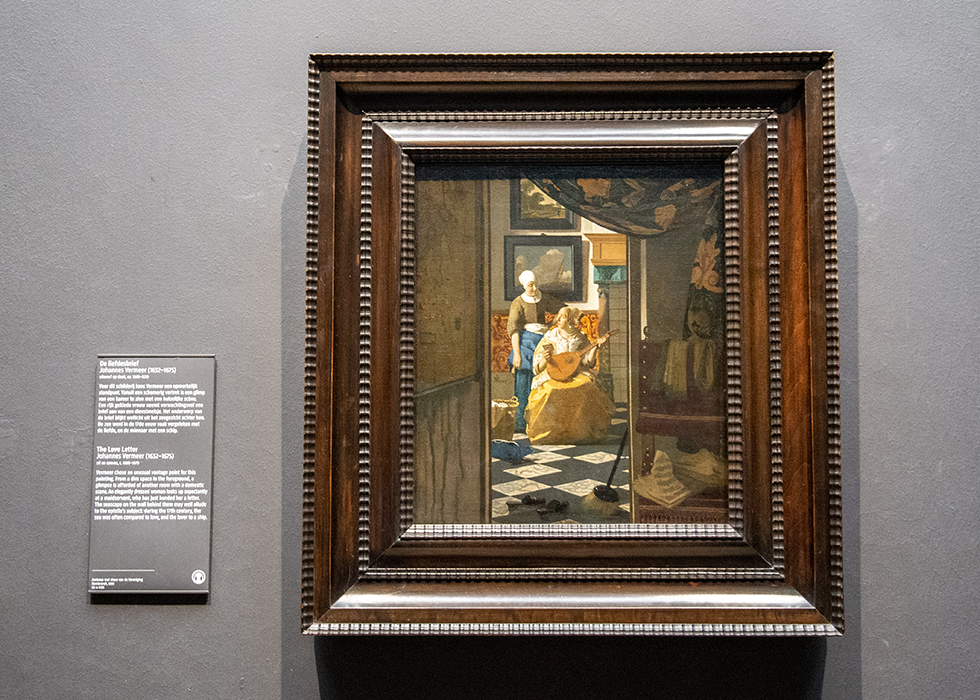 WHAT TO SEE IN RIJKSMUSEUM 8. JOHANNES VERMEER - THE LOVE LETTER