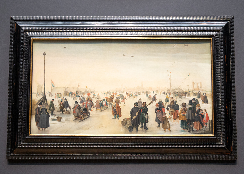 WHAT TO SEE IN RIJKSMUSEUM 10. HENDRICK AVERCAMP - ENJOYING THE ICE NEAR A TOWN