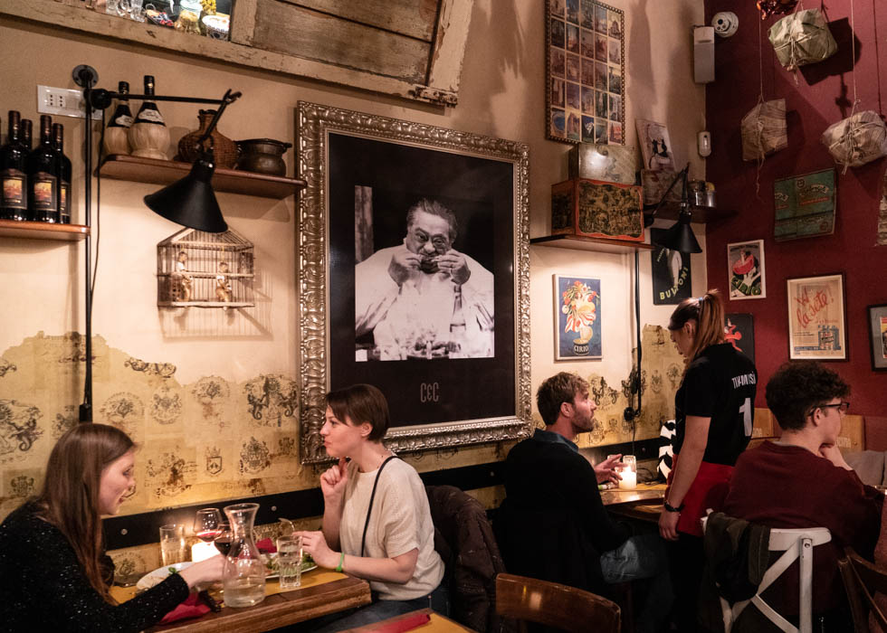 Рим, ресторан рядом с площадью Навона ANTINA E CUCINA