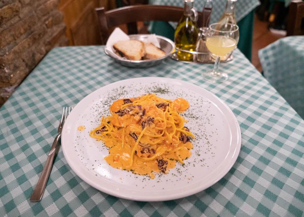 Рим, ресторан CARLO MENTA