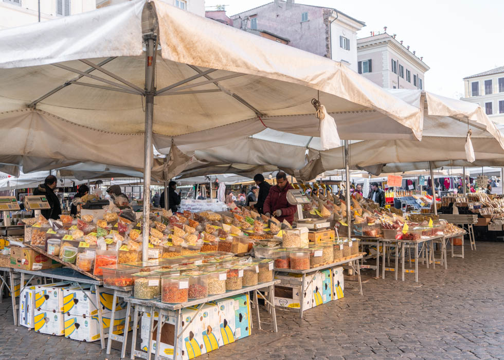 Rome local market CAMPO DE' FIORI