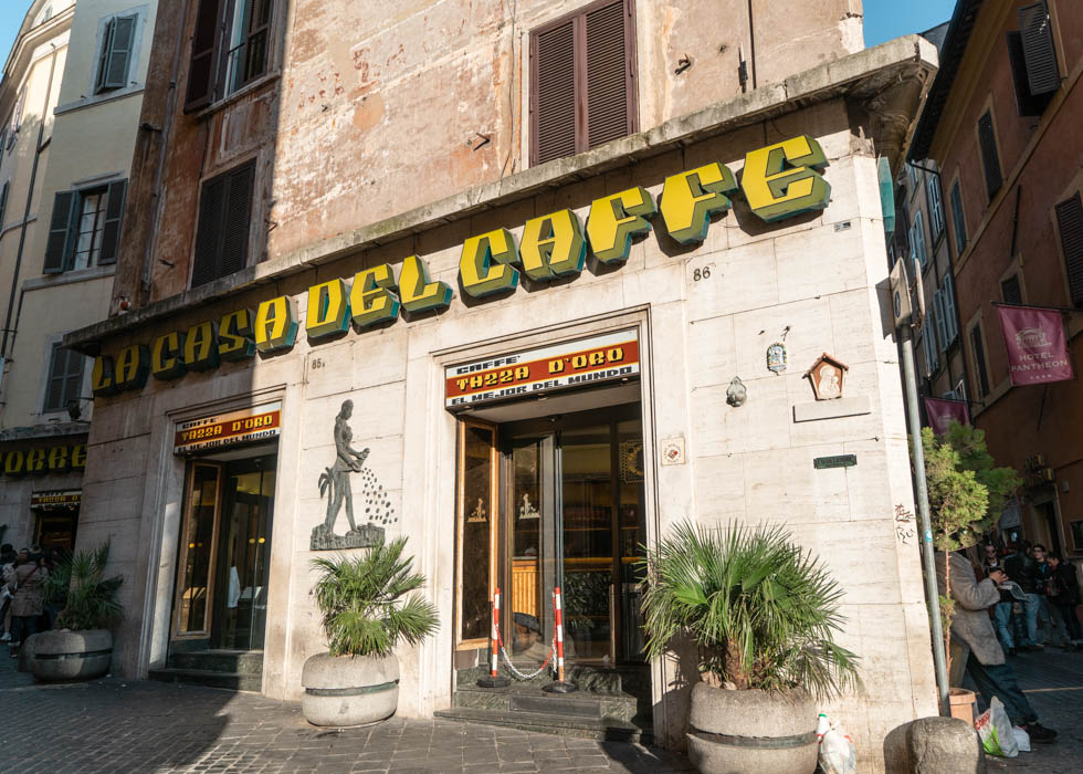 イタリア旅行 ローマおすすめカフェ Rome cafe TAZZA D'ORO