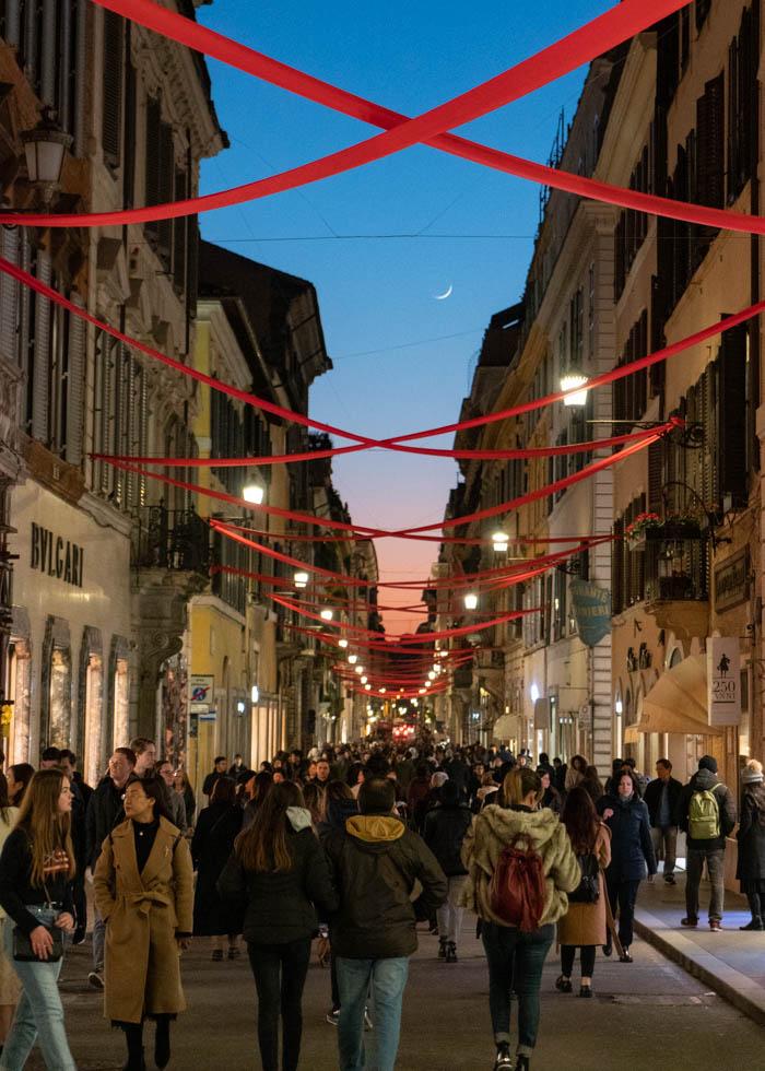ローマ観光 VIA DEI CONDOTTI shopping street