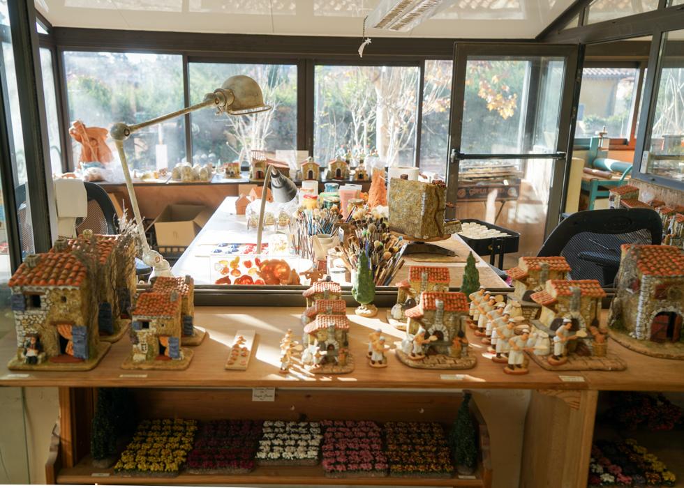 Santons atelier in Province