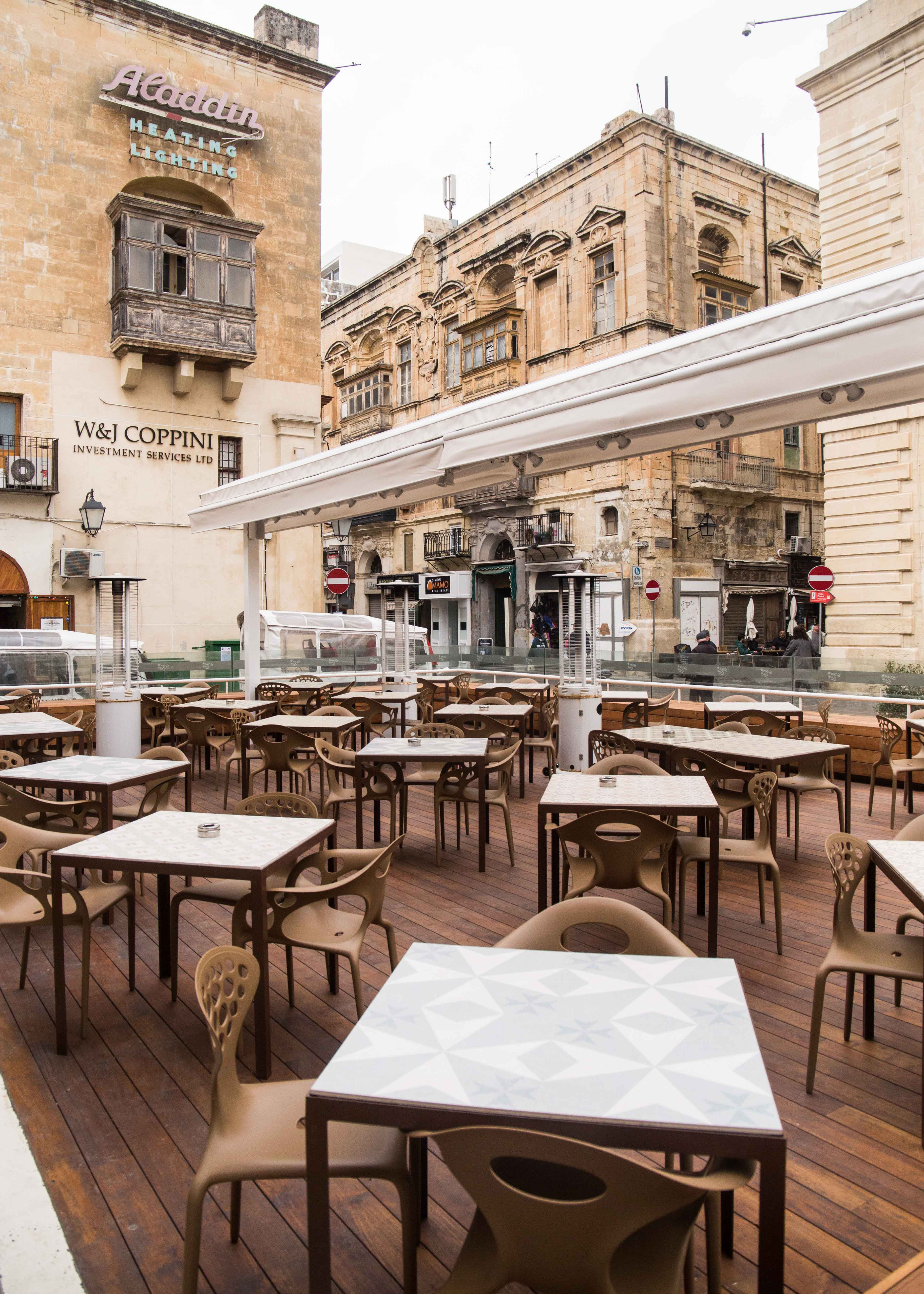 Dinning with Valletta view, Star Cafe