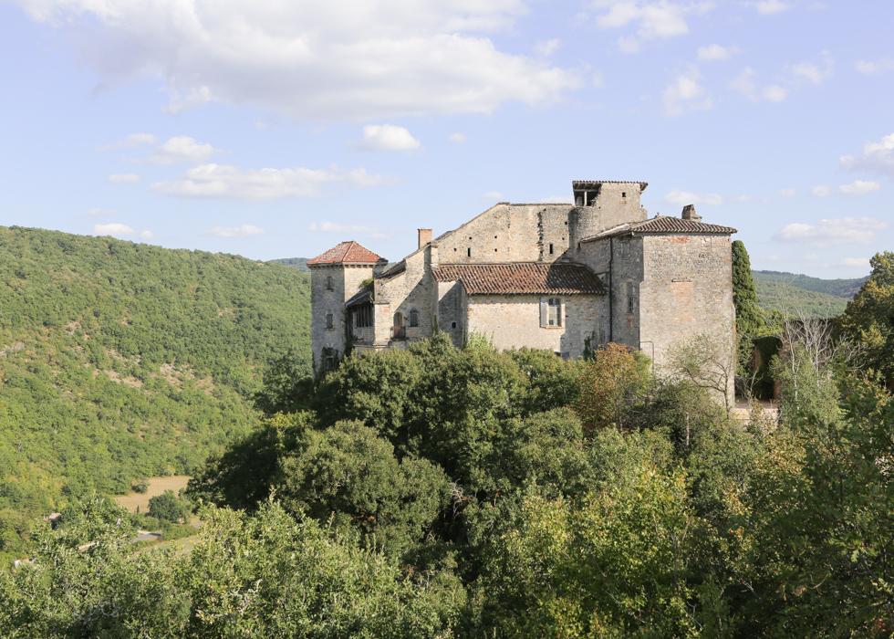 château Bruniquel lâu đài