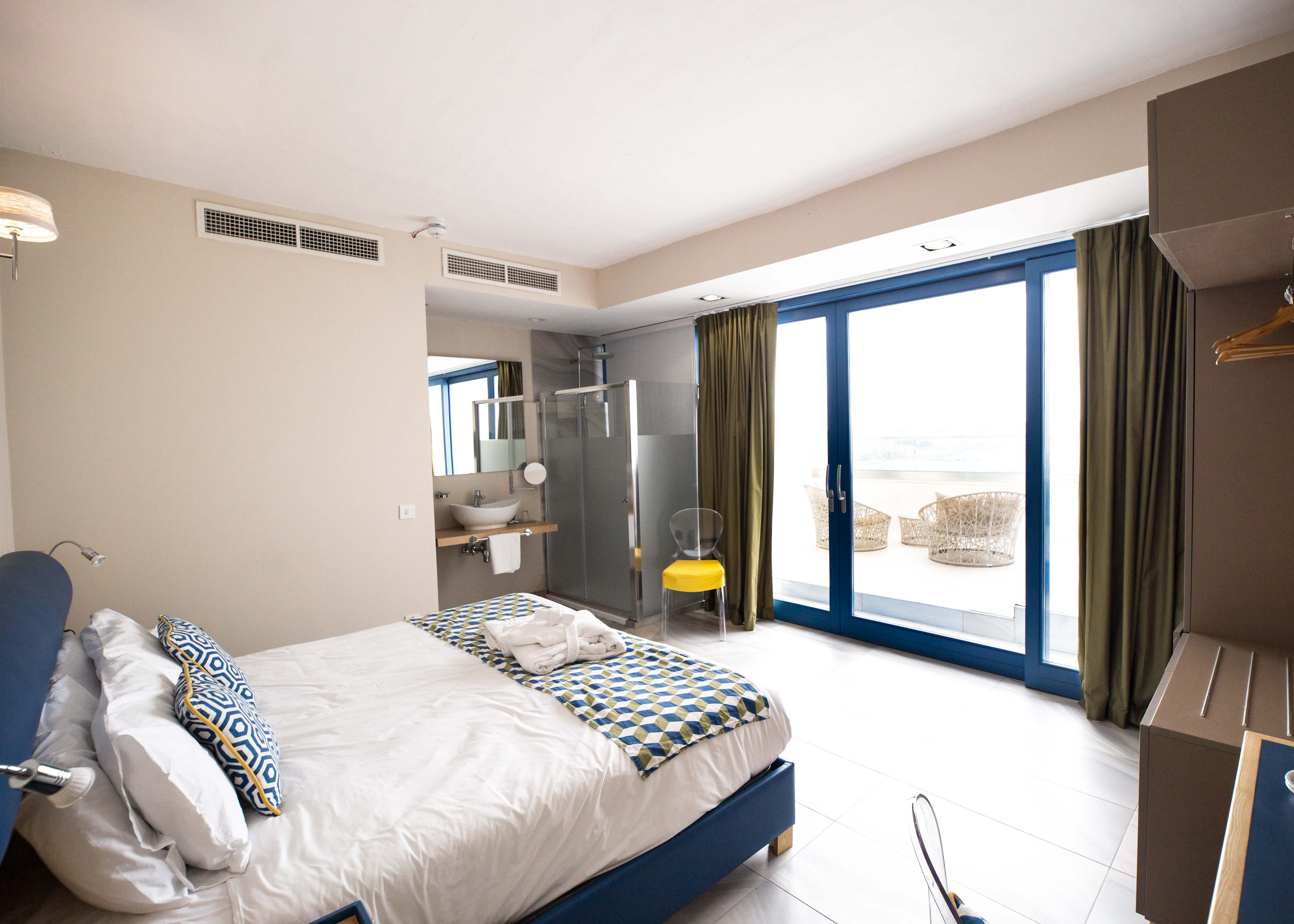 Hotel with the Three Cities view, best hotel in Malta, The British Suites