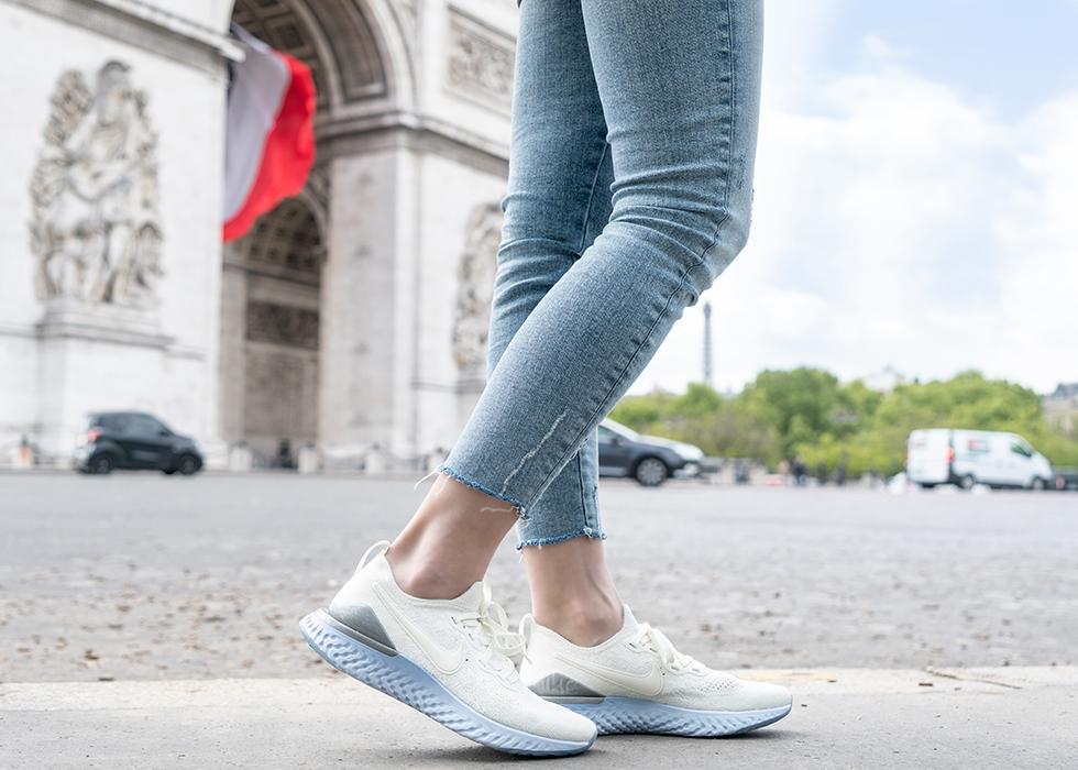 paris shopping running shoes