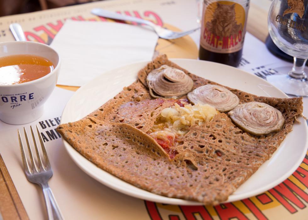 อาหารฝรั่งเศส Brittany Galette