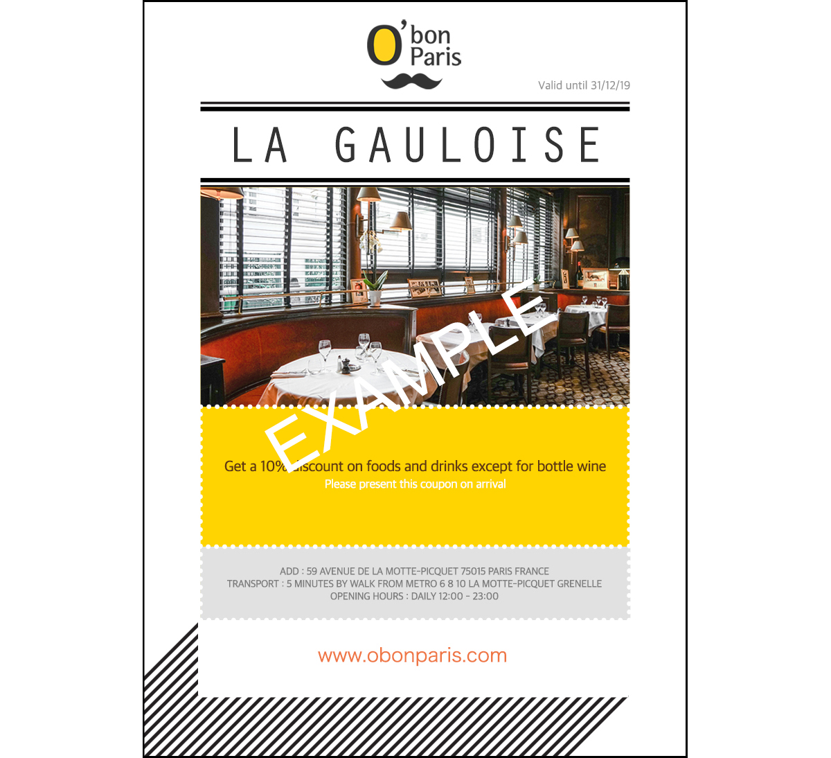 Paris La Gauloise-Coupon