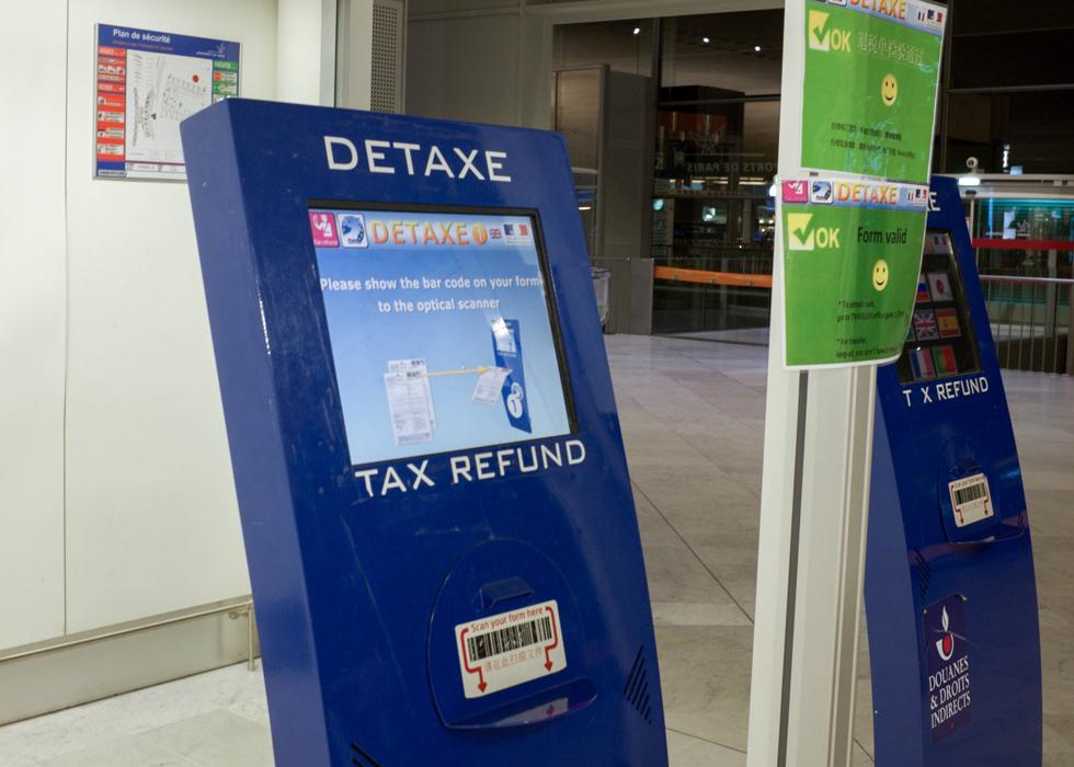 ヨーロッパ免税手続き